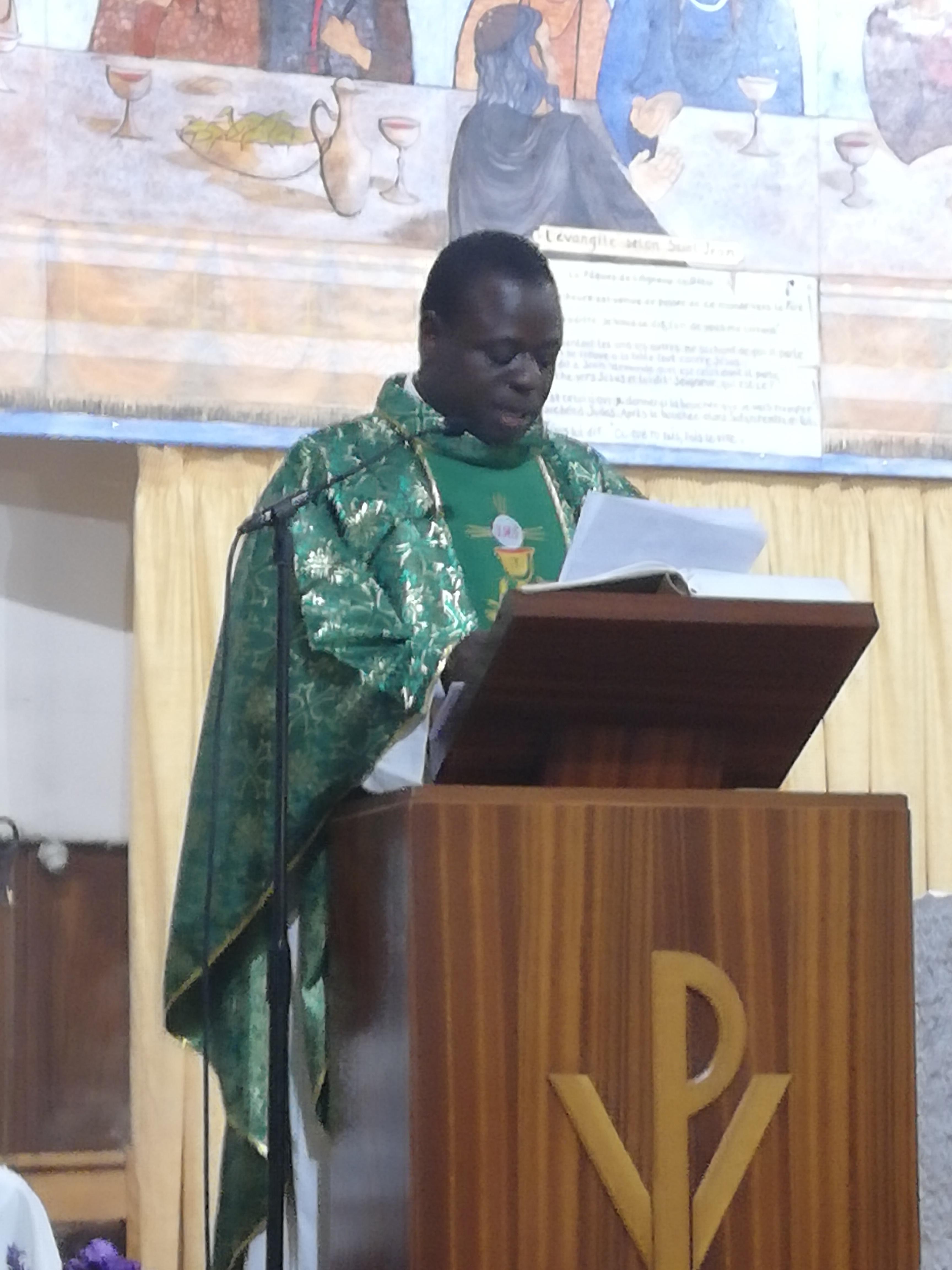 20 septembre 2019, installation du curé de la paroisse