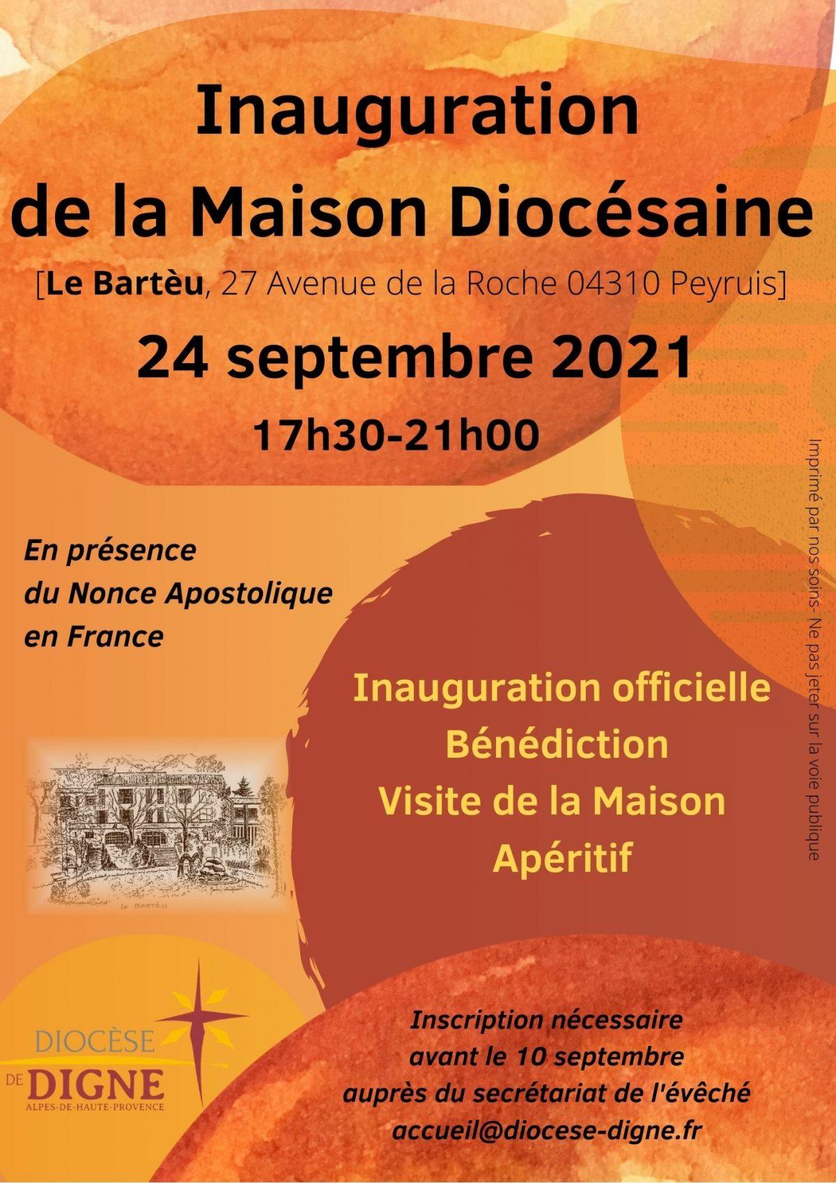 INAUGURATION DE LA MAISON DIOCÉSAINE, le Bartèu